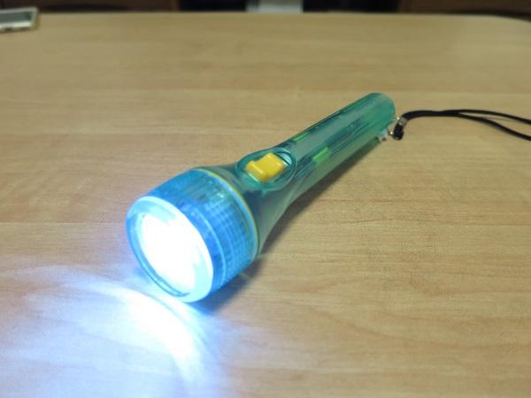単3型のミニライトをLEDに改造 緑色