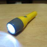 単3型のミニライトをLEDに改造 黄色