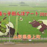 もがみの地上絵!楯っ子田んぼアート2019  山形県最上町