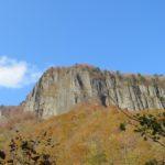 磐司岩の紅葉